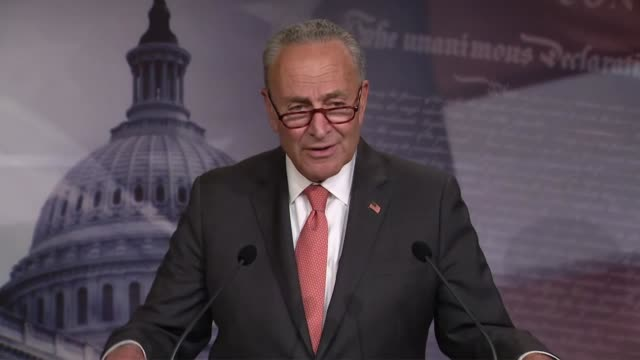 senate minority leader chuck schumer of new york says at a weekly news conference that earlier that day he had said republicans were divided but were... - time of day stock videos & royalty-free footage