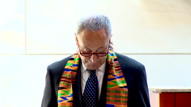 senate minority leader chuck schumer of new york says before nearly nine minutes of silence to mark the death of minneapolis resident george floyd... - amerikanischer treueschwur stock-videos und b-roll-filmmaterial