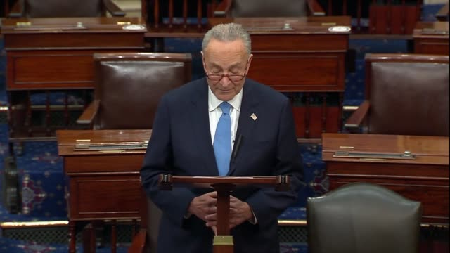 senate minority leader chuck schumer of new york says days after a new york times report about president donald trump's tax returns that 750 dollars... - nutshell stock videos & royalty-free footage