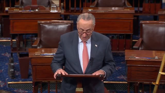 Senate Minority Leader Chuck Schumer of New York says days after a mass shooting in Las Vegas Nevada that the American tragedy cannot fall out of...