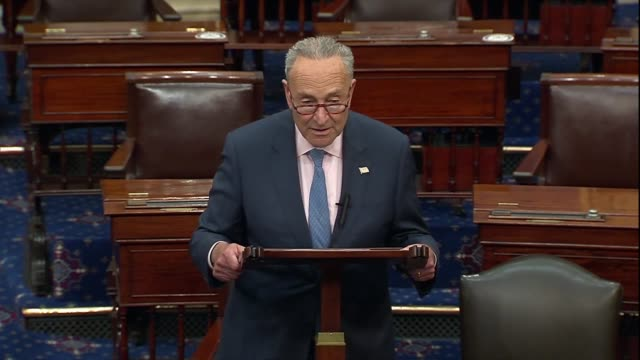 senate minority leader chuck schumer of new york says days after the death of supreme court justice ruth bader ginsburg that senate republicans... - vacancyサイン点の映像素材/bロール