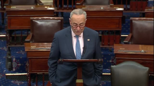 senate minority leader chuck schumer of new york says days after the death of supreme court justice ruth bader ginsburg there was no wonder americans... - nominee stock videos & royalty-free footage