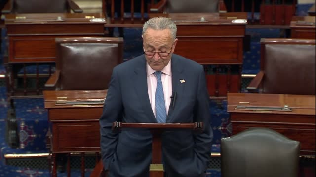 senate minority leader chuck schumer of new york says days after the death of supreme court justice ruth bader ginsburg that in the jewish tradition... - eve biblical figure video stock e b–roll