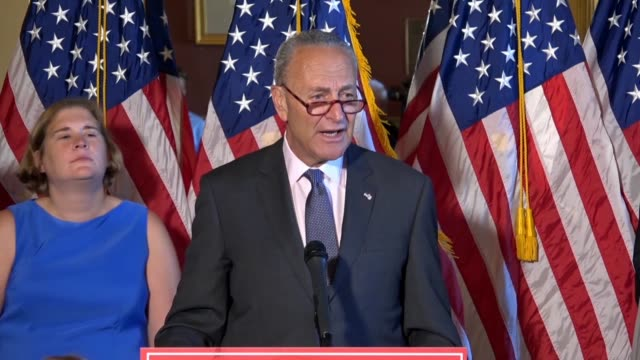 Senate Minority Leader Chuck Schumer of New York says Democrats feel a moral obligation to stop the Supreme Court nomination of Judge Brett Kavanaugh...