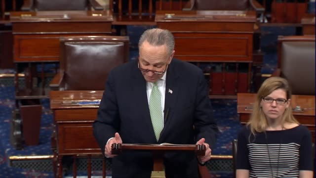 senate minority leader chuck schumer of new york says he was worried the day before at the secretary of state nomination hearing of rex tillerson... - exxon stock videos & royalty-free footage