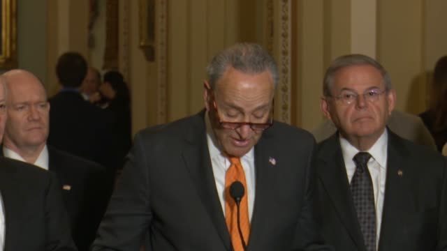 senate minority leader chuck schumer of new york says hours after president donald trump and north korean dictator kim jong and signed an agreement... - verification stock videos & royalty-free footage