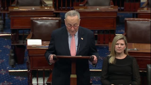 stockvideo's en b-roll-footage met senate minority leader chuck schumer of new york says in a discussion of an impeachment inquiry that by all accounts testimony by ambassador bill... - west point new york