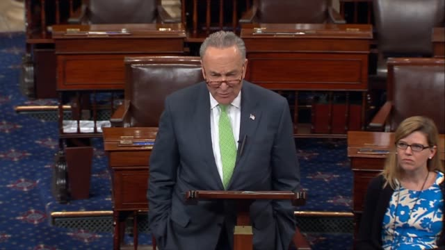 senate minority leader chuck schumer of new york says in a floor speech that a decision by president trump to withdraw the united states from the... - paris agreement stock videos & royalty-free footage