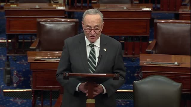 senate minority leader chuck schumer of new york says in daily floor remarks as coronavirus vaccination distribution began that there was not just... - accessibility stock videos & royalty-free footage
