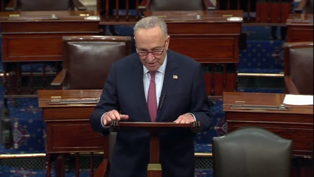 senate minority leader chuck schumer of new york says in offering a point of order against advancing the supreme court nomination of amy coney... - desire stock videos & royalty-free footage