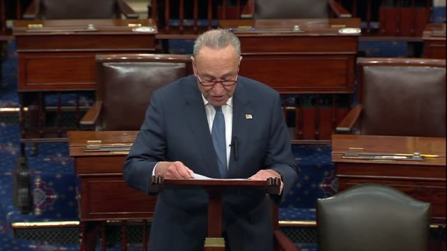 senate minority leader chuck schumer of new york says just prior to a confirmation vote on the nomination of seventh circuit judge amy coney barrett... - partisan politics stock videos & royalty-free footage