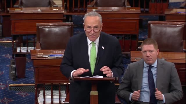 Senate Minority Leader Chuck Schumer of New York says minutes after a bipartisan resolution was objected to that action should be taken rather than...