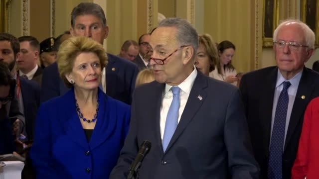 stockvideo's en b-roll-footage met senate minority leader chuck schumer of new york says republicans thought the tax reform would lead to victories in the 2018 midterm but instead were... - financieel item
