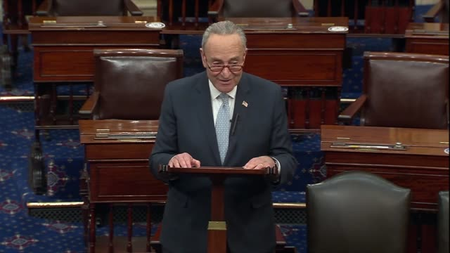 senate minority leader chuck schumer of new york says two days after the 2020 presidential election was called for joe biden that the president elect... - mixed race person stock videos & royalty-free footage