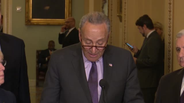senate minority leader chuck schumer of new york tells reporters a weekly briefing that additional weeks in session during august would mean that... - prescription drug costs stock videos & royalty-free footage