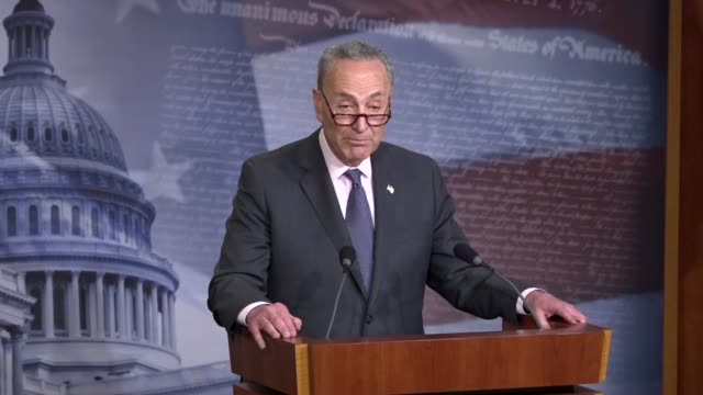 senate minority leader chuck schumer of new york tells reporters at a press briefing two weeks after a mass shooting at a parkland florida high... - national rifle association stock videos & royalty-free footage