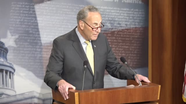 Senate Minority Leader Chuck Schumer of New York tells reporters that the special prosecutor appointed to investigate Trump Administration ties to...