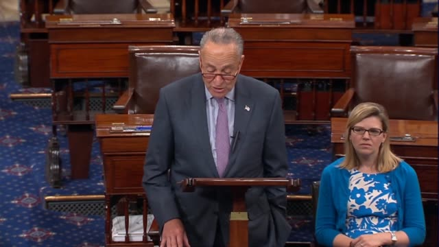 vidéos et rushes de senate minority leader chuck schumer says a third of brett kavanaugh documents the senate received were deemed as judiciary committee confidential by... - nomination