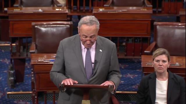 senate minority leader chuck schumer says a week after the supreme court confirmation hearing for judge brett kavanaugh that he was a partisan... - nominee stock videos & royalty-free footage