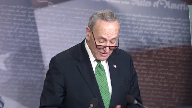 senate minority leader chuck schumer says hours after the tax cuts and jobs act passed that they are popping champagne down pennsylvania avenue and... - pennsylvania avenue stock videos & royalty-free footage