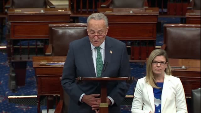 senate minority leader chuck schumer says in a floor speech after press reports of a whistleblower complaint about a phone request by president... - 法廷審問点の映像素材/bロール