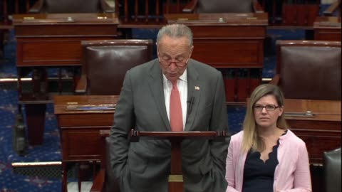 vidéos et rushes de senate minority leader chuck schumer says in a floor speech after press reports of a whistleblower complaint about a phone request by president... - contestant