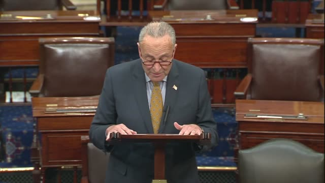 senate minority leader chuck schumer says in senate floor remarks after negotiations between democrats and trump administration officials culminated... - other stock videos & royalty-free footage