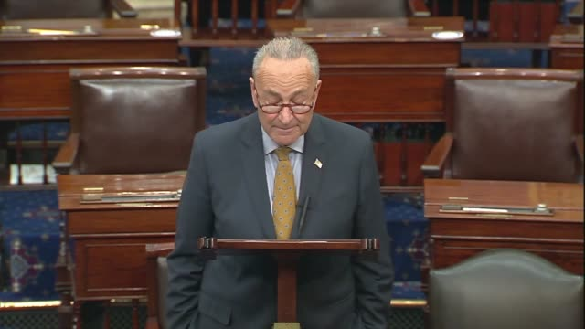 senate minority leader chuck schumer says in senate floor remarks after negotiations between democrats and trump administration officials culminated... - {{ collectponotification.cta }} stock videos & royalty-free footage