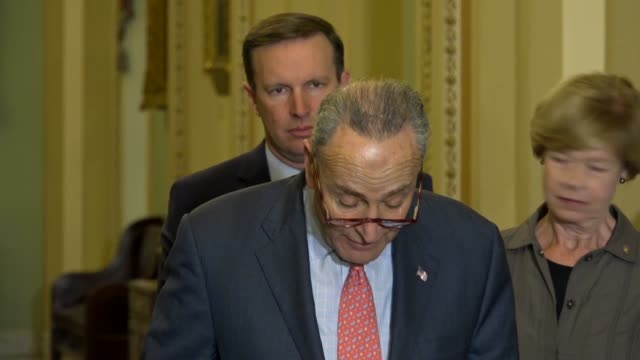 senate minority leader chuck schumer says republicans had voted to let insurance companies offer skimpy junk plans that did not cover essential... - sabotage stock videos & royalty-free footage