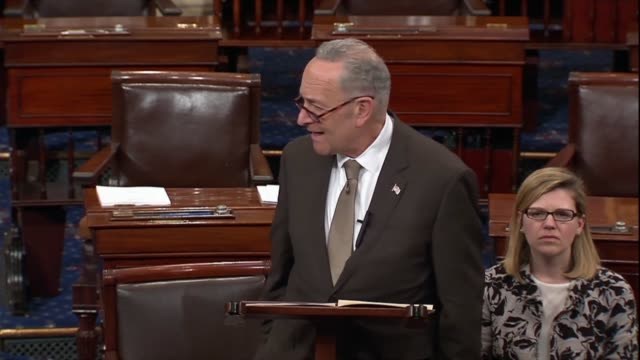 senate minority leader chuck schumer says that even when president donald trump momentarily departs from the national rifle association script, he is... - senator stock videos & royalty-free footage
