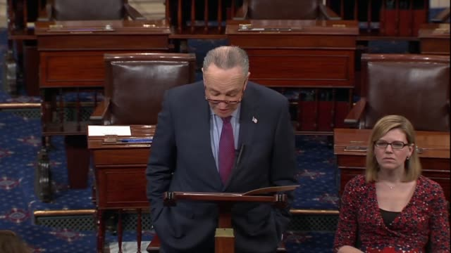 Senate Minority Leader Chuck Schumer says the day after a mass shooting at Marjory Stoneman High School in Parkland Florida where the scorch of gun...