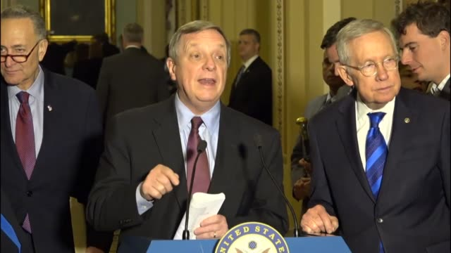 Senate Minority Leader Harry Reid begins a press conference during the lame duck session stating he does not expect a short work expressing his...