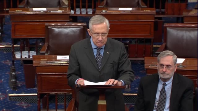 Senate Minority Leader Harry Reid says Democrats never stopped a Republican Supreme Court nominee from holding a hearing or a vote the talking about...