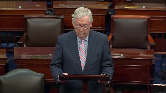 senate minority leader mitch mcconnell of kentucky says in floor speech when president joe biden had announced his intention to completely withdraw... - bagram stock videos & royalty-free footage