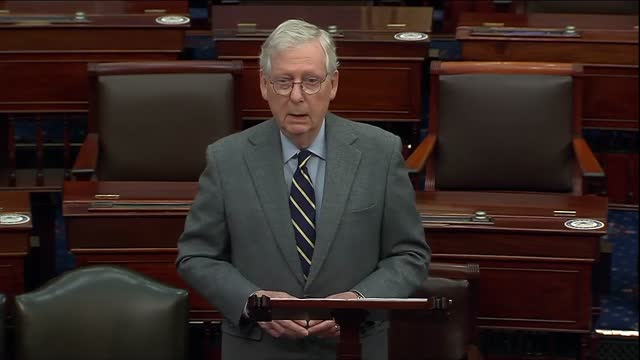 senate minority leader mitch mcconnell of kentucky says in remarks on a power sharing agreement in an evenly divided senate that in a scorched earth... - snail stock videos & royalty-free footage