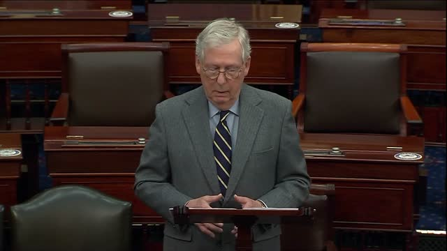 senate minority leader mitch mcconnell of kentucky says in remarks on a power sharing agreement that none on either side wanted to live in a scorched... - human muscle stock videos & royalty-free footage