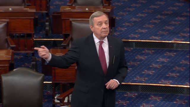 senate minority whip dick durbin of illinois says that an investigation is necessary because senator mitch mcconnell refuses to mention merrick... - dick durbin stock videos & royalty-free footage