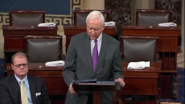 stockvideo's en b-roll-footage met senate president pro tempore orrin hatch of utah says in his farewell address that if one does not care who gets credit they can be enemies that what... - {{relatedsearchurl(carousel.phrase)}}