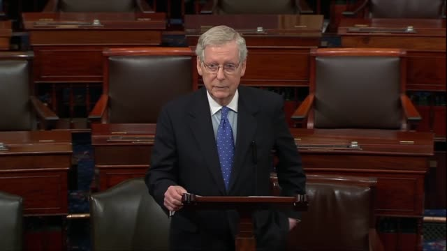 senate republican leader mitch mcconnell of kentucky says in an anticipated floor speech that for the rest of the country the mueller report on... - senate stock videos & royalty-free footage