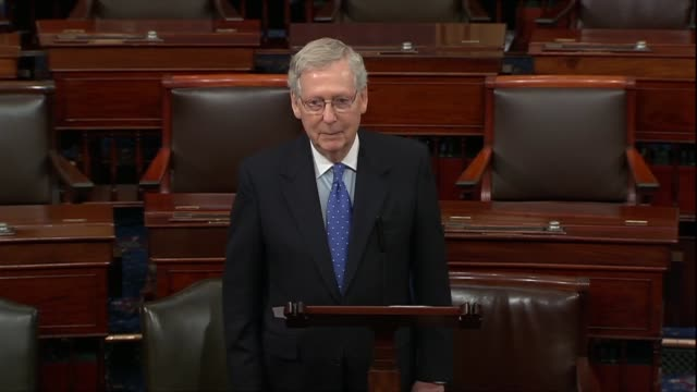 senate republican leader mitch mcconnell of kentucky says in an anticipated floor speech that on the what was going on in an angry barrage would be... - senate stock videos & royalty-free footage