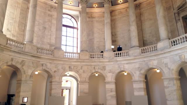 u.s. senate russell office building rotunda in washington, dc - 4k/uhd - rotunda stock videos & royalty-free footage