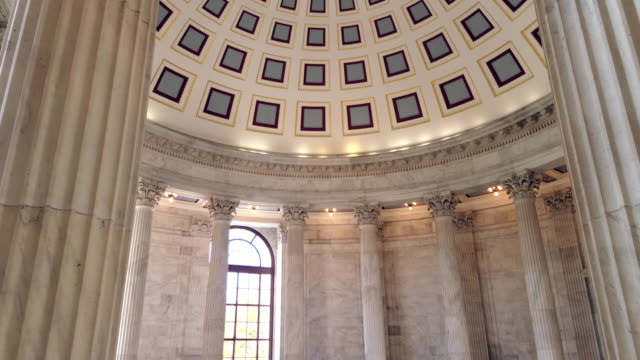 u.s. senate russell office building rotunda in washington, dc - 4k/uhd - dome stock videos & royalty-free footage