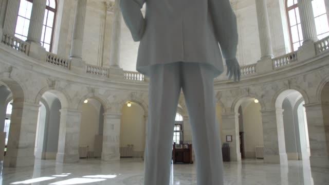 u.s. senate russell office building rotunda in washington, dc - tilt up - legislator stock videos & royalty-free footage