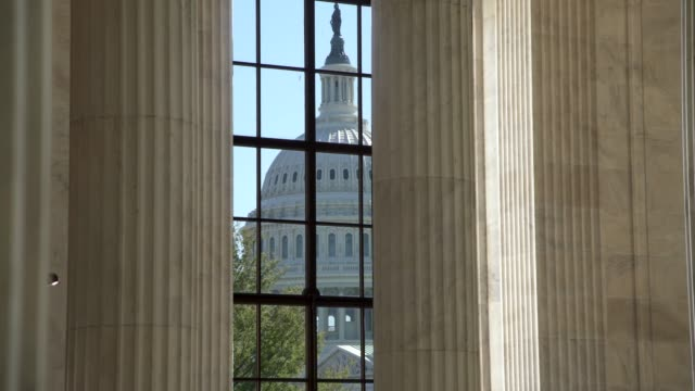 u.s. senate russell office building rotunda view of the u.s. capitol in washington, dc - senate stock videos & royalty-free footage