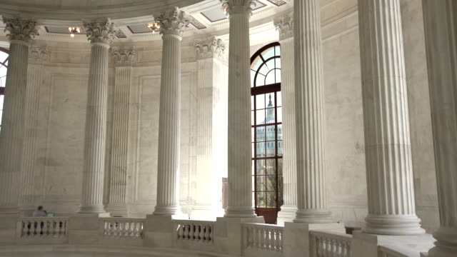 u.s. senate russell office building rotunda view of the u.s. capitol in washington, dc - neo classical stock videos & royalty-free footage