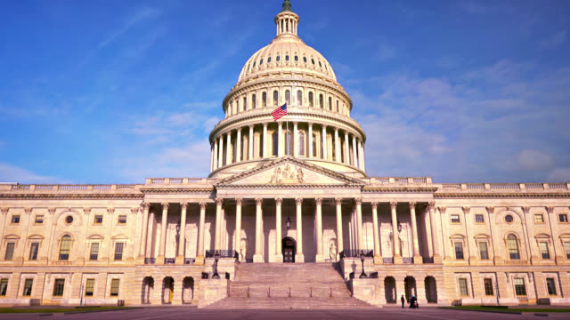 senat usa. washington dc - kuppeldach oder kuppel stock-videos und b-roll-filmmaterial