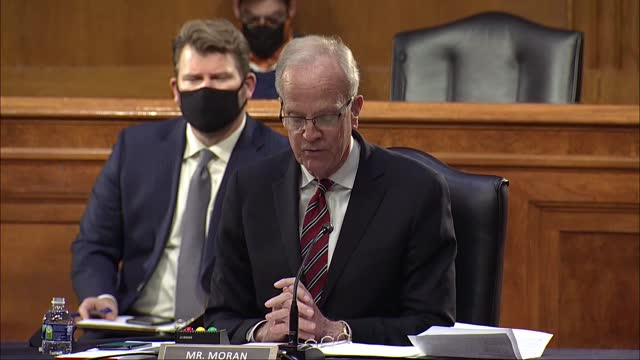vídeos de stock e filmes b-roll de senate veterans' affairs committee ranking member jerry moran of kansas says at nomination hearing with va secretary nominee denis mcdonough that... - employee engagement
