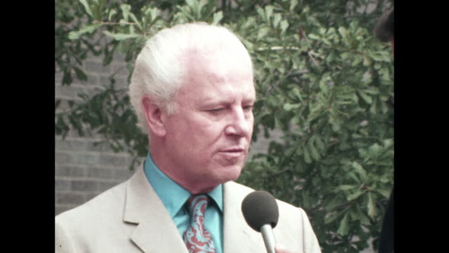 vidéos et rushes de senator albert gore talks about visit to tennessee from vice president spiro agnew - 1972