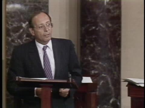 senator alfonse d'amato announces the military has accepted anti-drug powers from the senate vote. - united states and (politics or government) stock videos & royalty-free footage