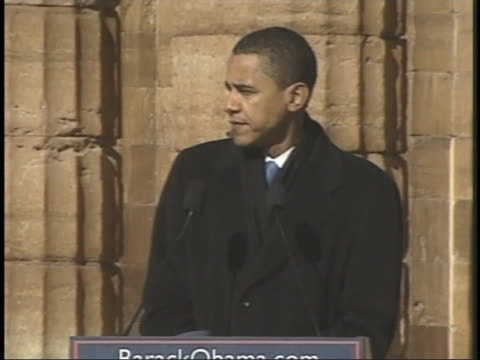 senator barack obama announces his candidacy for president in the 2008 presidential elections during a speech in springfield, illinois. - presidential candidate stock videos & royalty-free footage